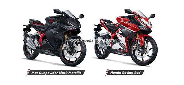 New Honda CBR250RR Mat Gunpowder Black Metallic dan Honda Racing Red